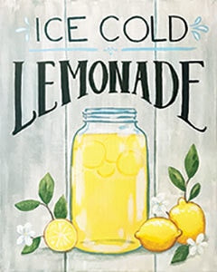 Adult Canvas- Ice Cold Lemonade