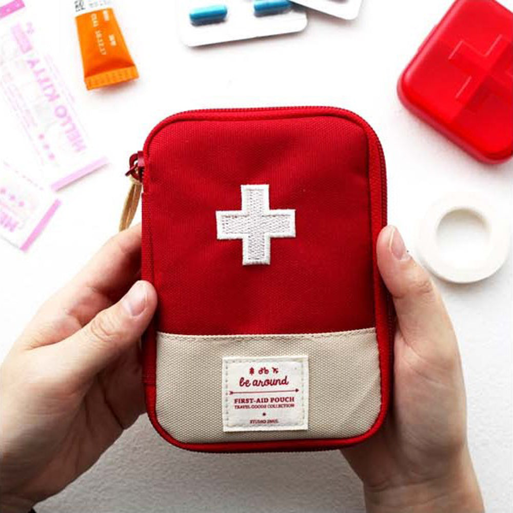 Outdoor First Aid Emergency Medical Bag Medicine Drug Pill Box Home Car Survival Kit Storage Case Small 600D Oxford Pouch