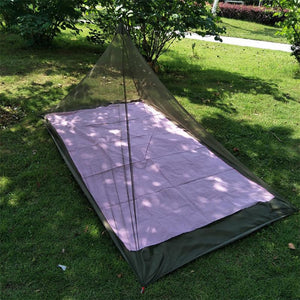 Outdoor Summer Mosquito Net Outdoor Pyramid Shape Portable Backpacking Tent Jungle Camping Netting Survival Kit 2018 New Arrival