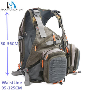 Maximumcatch Fly Fishing Vest Fishing Backpack Outdoor sports Backpack Bag Adjustable Belt