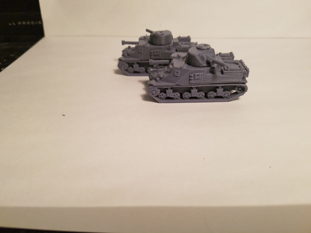 1/200 to 1/35 scale M3 Lee  x2 Scale WWII Model Tank