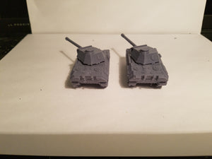 1/72 1/87 1/144 1/100 1/56 1/48 1/200 1/35  Panther No Side Skirts Scale x2 WWII Model Tank
