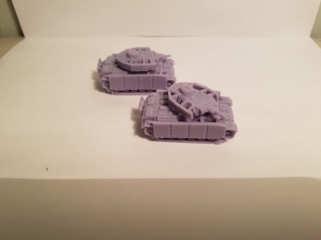 1/200 to 1/35 scale Panzer III 50mm short side skirts  x2 Scale WWII Model Tank