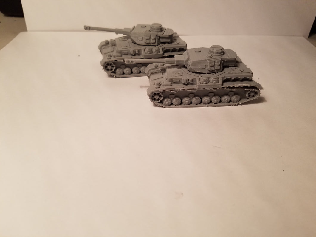 1/200 to 1/35 scale Panzer4 75mm x2 Scale WWII Model Tank