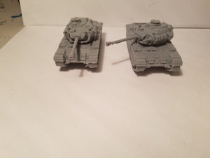 1/72 1/87 1/144 1/100 1/56 1/48 1/200 1/35   Mk.1 Centurion No Side Skirt  x2 Scale WWII Model Tank