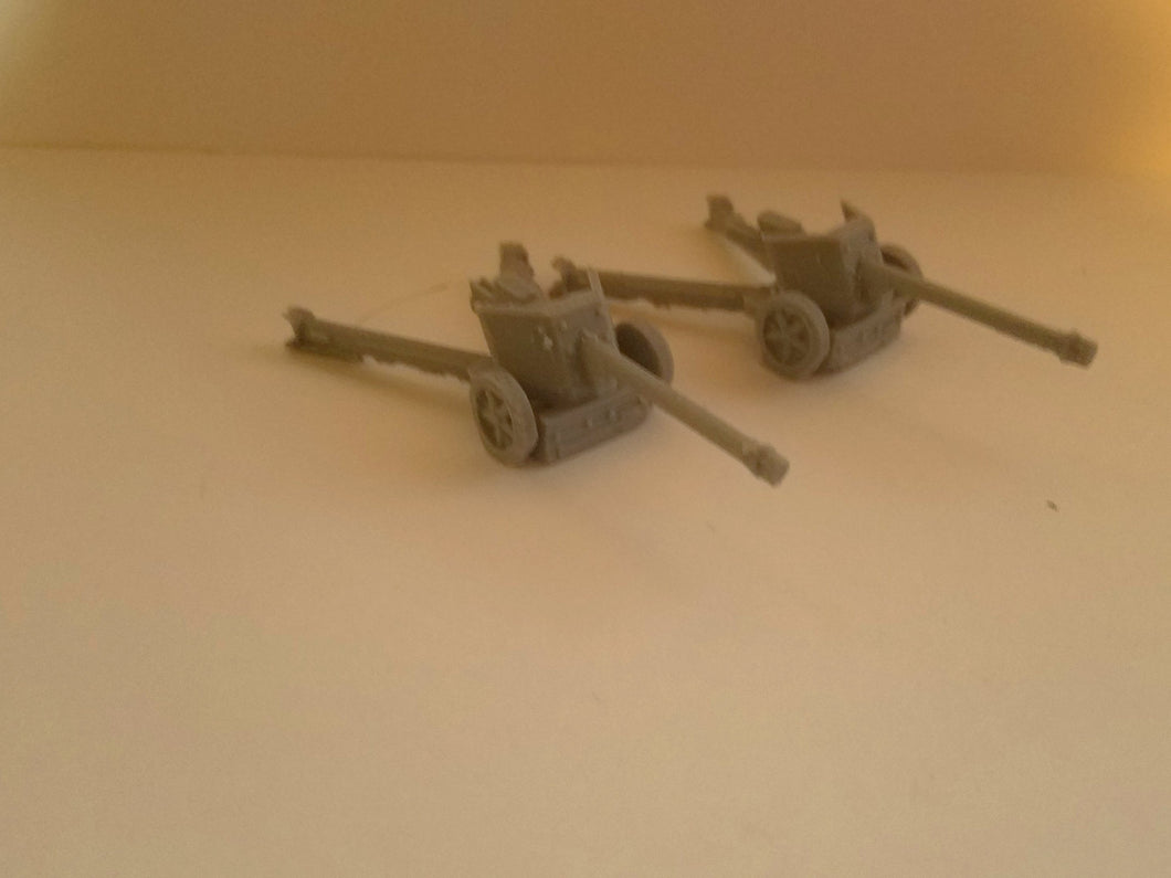 1/72 1/87 1/144 1/100 1/56 1/48 1/200 1/35 Pak 40 Anti Tank x2 Scale WWII Model Tank