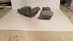 1/72 1/87 1/144 1/100 1/56 1/48 1/200 Churchill AVRE x2 Scale WWII Model Tank