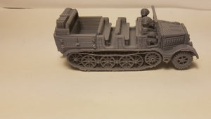 1/72 1/87 1/144 1/100 1/56 1/48 1/200 1/35 SD.KFZ 7 Carrier x2 Scale WWII Model Tank