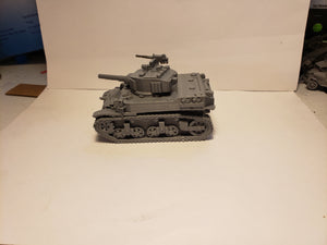 1/200 to 1/35 scale M5 Stuart  x2 Scale WWII Model Tank