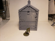 Load image into Gallery viewer, 1/72 1/87 1/144 1/100 1/56 1/48 1/200 1/35  2flr Cottage Bunker Scale WWII Model Tank