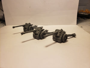 1/72 1/87 1/144 1/100 1/56 1/48 1/200 1/35 Pak 38 Anti Tank late war x3 Scale WWII Model Tank