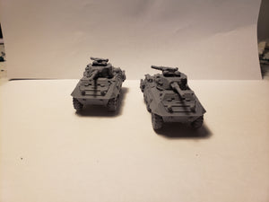 1/72 1/87 1/144 1/100 1/56 1/48 1/200 1/35  M8 greyhound scout car  x2 Scale WWII Model Tank