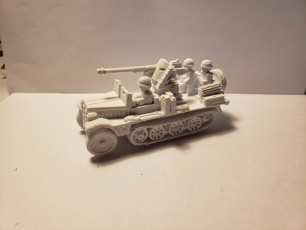 1/72 1/87 1/144 1/100 1/56 1/48 1/200 1/35 SD.KFZ 10 pak 38 armoured  x2 Scale WWII Model