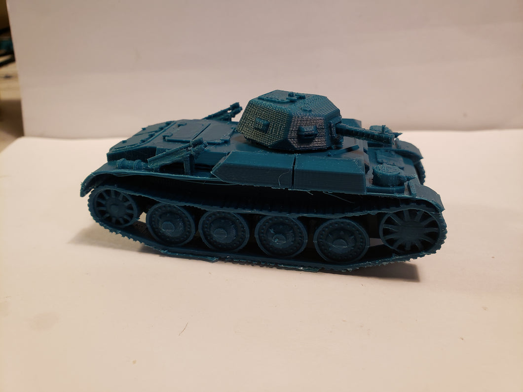 1/200 to 1/35 scale Panzer II