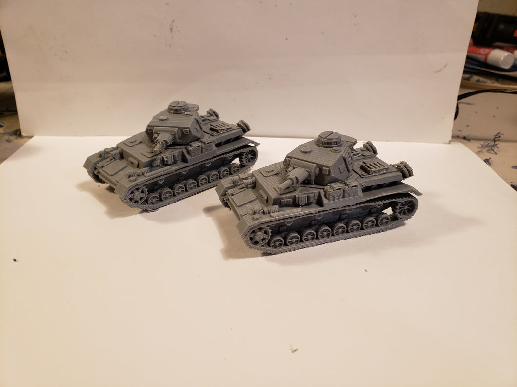 1/200 to 1/35 scale Panzer4 75mm Short x2 Scale WWII Model Tank