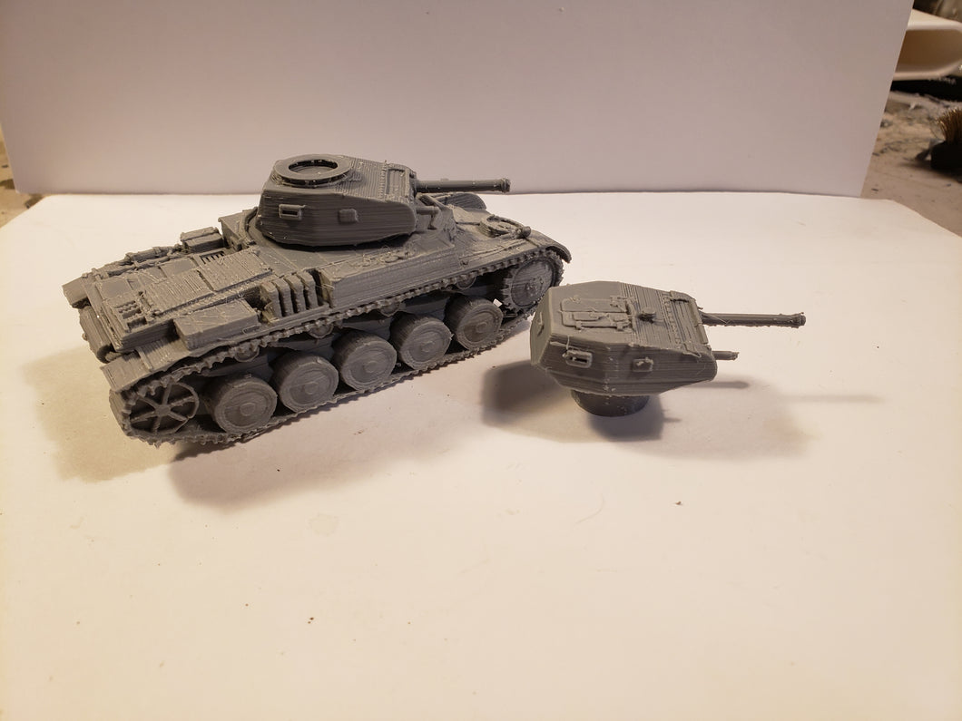 1/200 to 1/35 scale Panzer II ausf C Scale WWII Model Tank