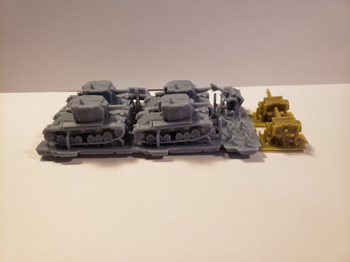 1/300 to 1/144 scale Bison with limbers Scale WWII Model Tank