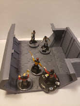 Load image into Gallery viewer, 3 way 3x3 Sci-fi Corridor / Dungeon Tile Hero Clix Starwars ARMD Minatures DND D&D no:333d