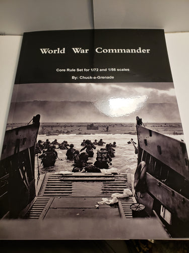 World War Commander Core Rule set for 1/72 1/56