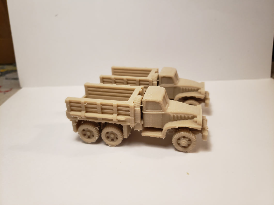 GMC_CCKW_2½-ton_6x6_truck open bed late war x2 Scale WWII Model Tank