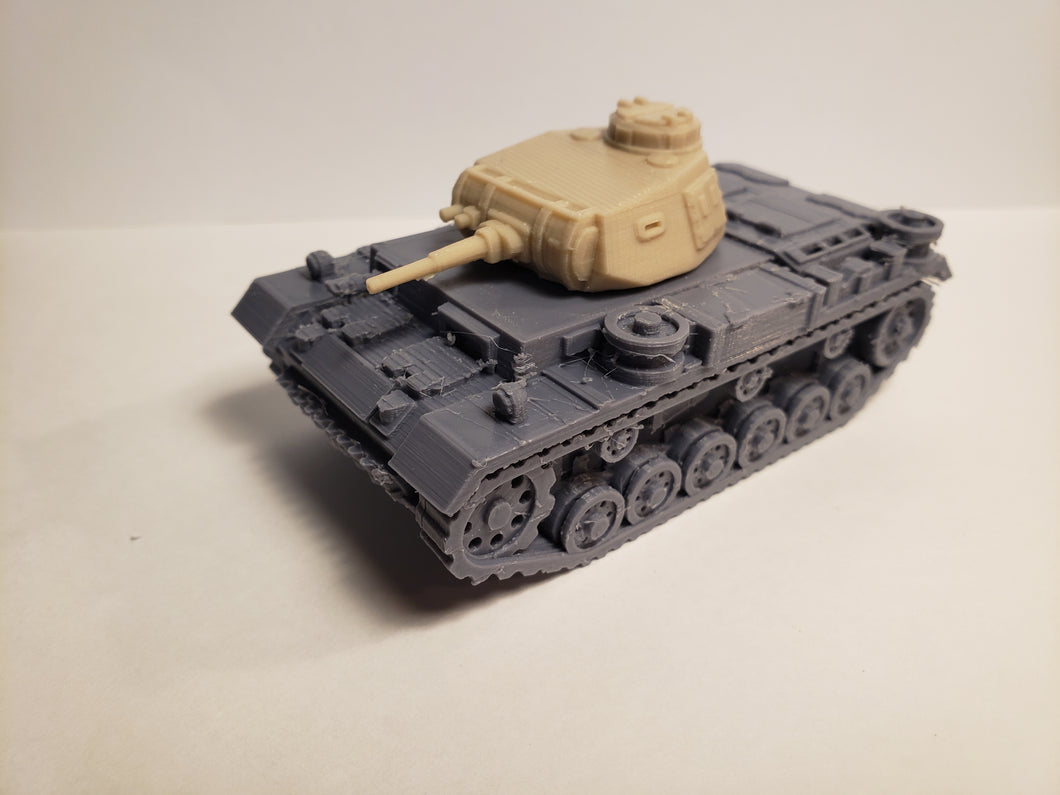 1/200 to 1/35 scale panzer III  37mm ausf. E early x2 Scale WWII Model Tank