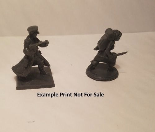 up to 110mm Mech Warrior Thingverse D & D Heroforge Desktophero     3d Miniature Print Service