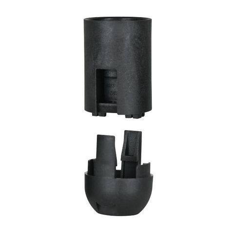 2-Piece Smooth Black Phenolic Candelabra