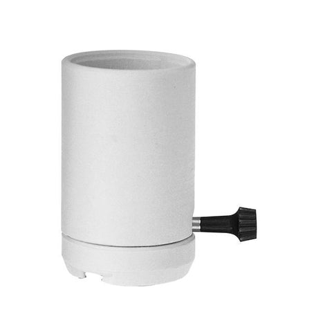 3-Way Mogul Base Socket Unglazed Porcelain