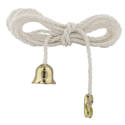 "36"" White Pull-String with Brass End Bell"