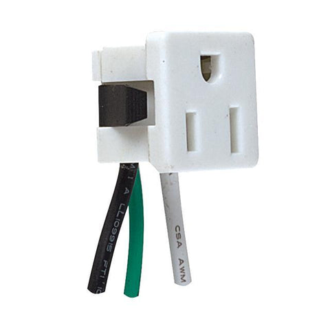 3- Wire Snap-In U-Ground Convenience Outlet