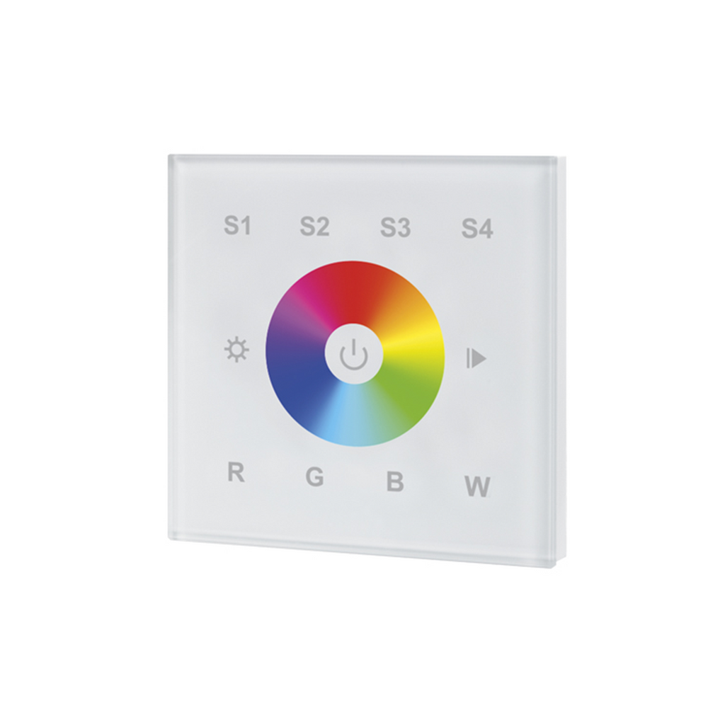 Integral RF RGBW Wall-mounted Touch Remote 1 Zone (White) - Prisma Lighting
