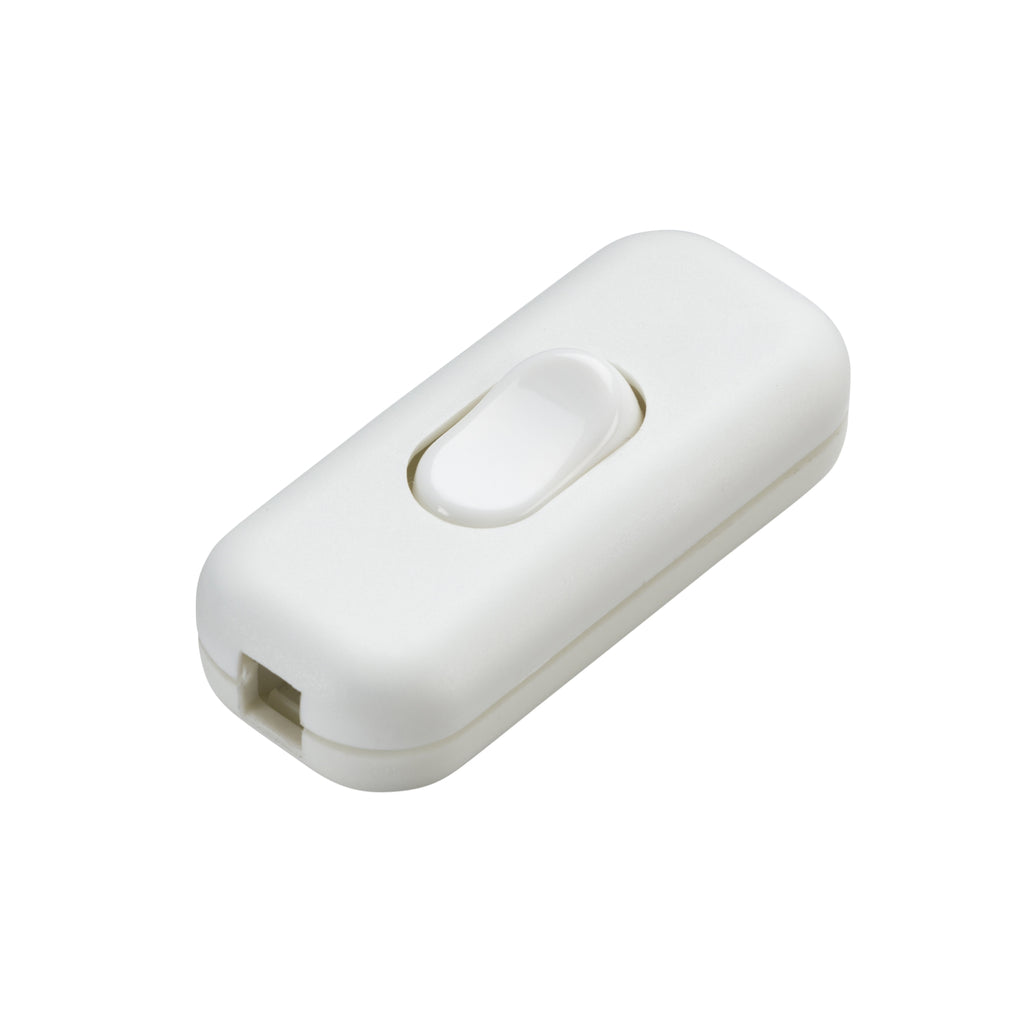 Knightbridge 6A DP Inline Cord Switch White - Prisma Lighting
