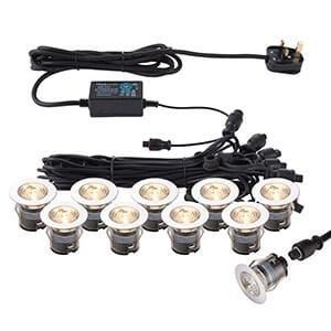 Saxby 73348 IkonPRO CCT 3000 K/4000K 35mm Kit IP67 0.75W CCT - Prisma Lighting