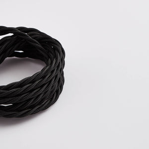 Prisma Black 3 Core 0.5mm Twisted Cable (Sold by the Metre)