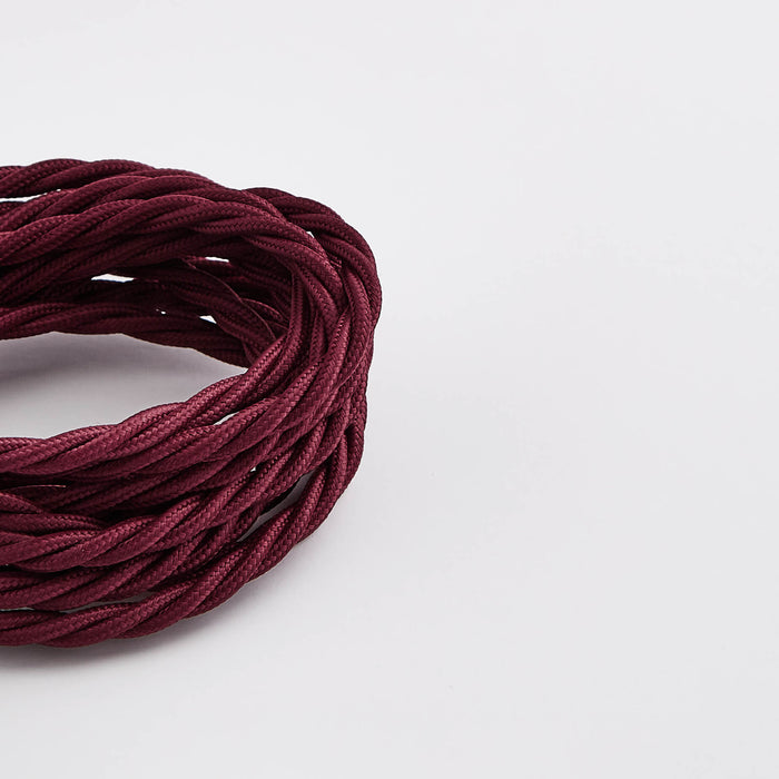 Prisma Burgundy 3 Core 0.5mm Twisted Cable (Sold by the Metre)