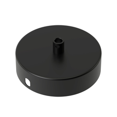 Calex Matt Black Metal Ceiling Rose 100mm 1 Hole