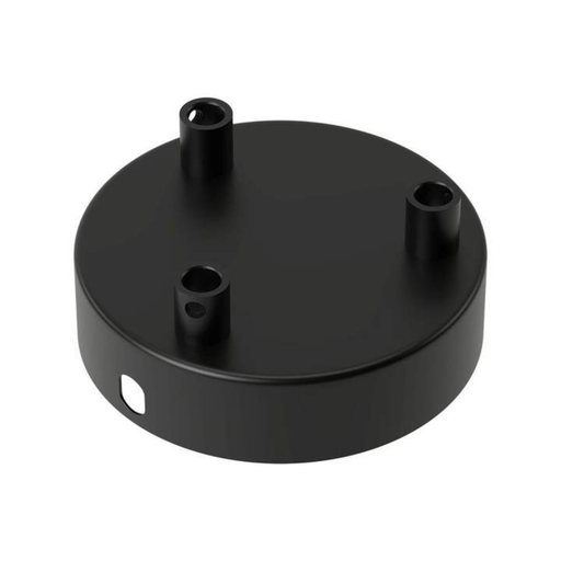 Calex Matt Black Metal Ceiling Rose 100mm 3 hole