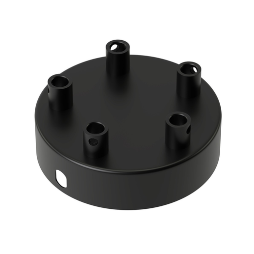 Calex Matt Black Metal Ceiling Rose 100mm 5 Hole