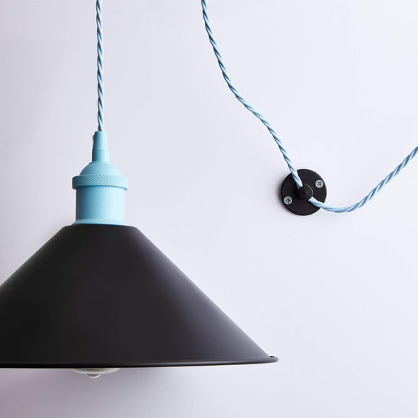White Ceiling Hook With Shade - Prisma Lighting