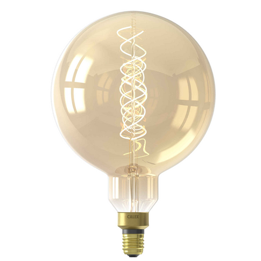 Calex Megaglobe Gold LED lamp 4W 200lm 2100K Dimmable - Prisma Lighting
