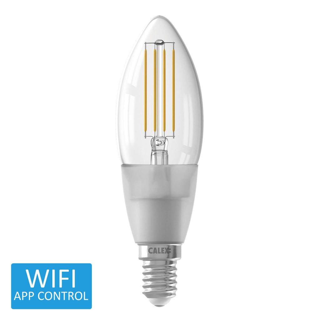 Calex Smart LED Filament Candle Extra Warm to Warm Small Edison Screw