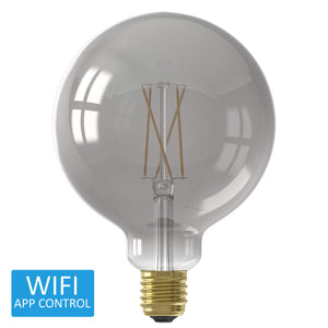 Calex Smart Smokey LED Globe Edison Screw Bulb