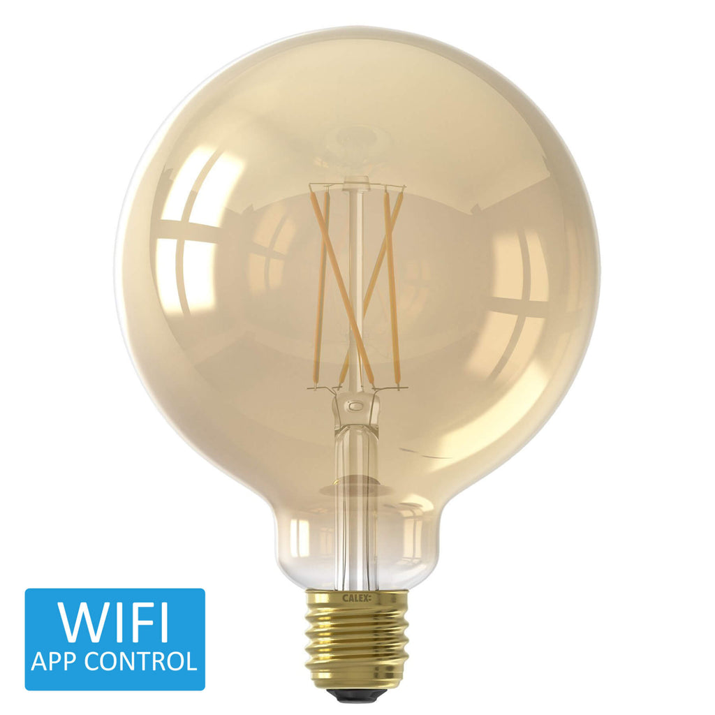 Calex Smart Rustic LED Globe Edison Screw Bulb