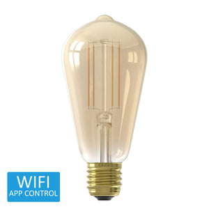 Calex Smart Rustic LED ST64 Edison Screw Bulb