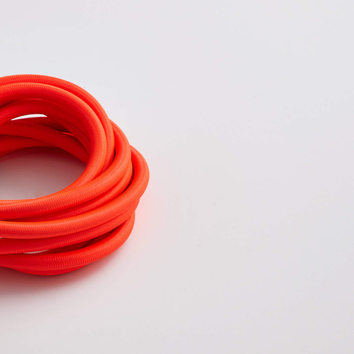 Prisma Neon Flo Pink 3 Core 0.5mm Solid Braid Cable (Sold by the Metre)