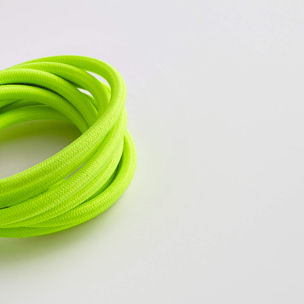 Prisma Neon Flo Yellow 3 Core 0.5mm Round Cable - Prisma Lighting