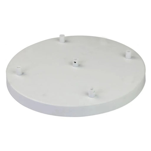 Girard Sudron - White - Steel Ceiling Rose 300mm 5 Outputs With Cable Stop