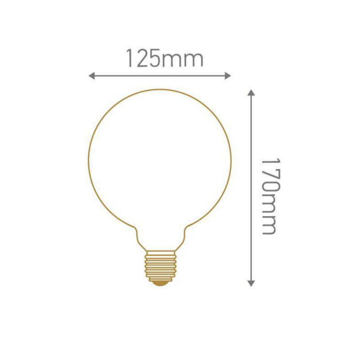 Girard Sudron Globe G125 LED filament 10W E27 2700K 1250lm milky dim. - Prisma Lighting