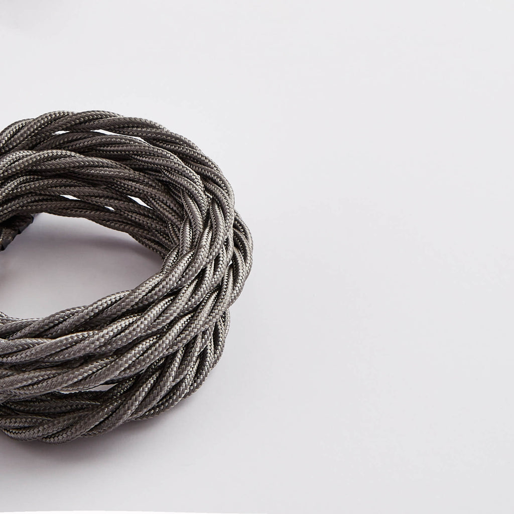 Prisma Elephant Grey 3 Core 0.5mm Twisted Cable - Prisma Lighting