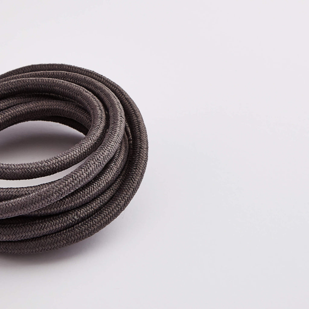 Prisma Dusk Grey 3 Core 0.5mm Solid Braid Cable (Sold by the Metre)